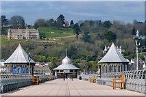 SH5873 : The end of Garth Pier, Bangor by Robin Drayton