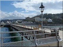 SH5873 : Inland view on Garth Pier, Bangor by Robin Drayton
