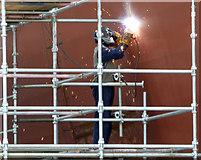 NS3274 : Welder at Ferguson Marine Shipyard by Thomas Nugent