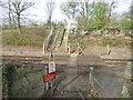 TQ4347 : Railway foot crossing near Edenbridge station by Marathon