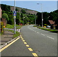 ST2694 : Traffic sign facing Ty Canol Way, Ty Canol, Cwmbran by Jaggery