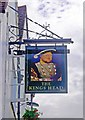 SU9949 : The Kings Head (2) - sign, Quarry Street, Guildford, Surrey by P L Chadwick