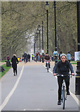 TQ2780 : Cycle path in Hyde Park by Paul Harrop