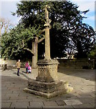 SP0202 : Medieval High Cross, West Market Place, Cirencester by Jaggery