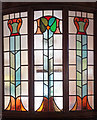 SP5075 : Stained glass, Rugby Baptist Church by Julian Osley