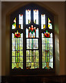SP5075 : Stained glass window, Rugby Baptist Church by Julian Osley