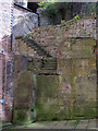 NZ2563 : Ancient stairs, Side, NE1 by Mike Quinn