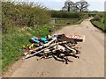 SJ8051 : Fly-tipping on Cross Lane near Audley by Jonathan Hutchins