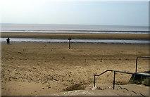ST3049 : Burnham-on-Sea beach and Bridgwater Bay by Jaggery