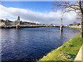 NH6645 : River Ness, Greig Street Footbridge by David Dixon