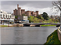 NH6645 : River Ness, Ness Bridge and Inverness Castle by David Dixon