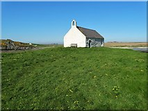SH3368 : St Cwfan's Church (The Church in the Sea) by Neil Theasby