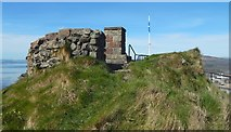 NS3974 : Dumbarton Castle: remains of a circular structure by Lairich Rig