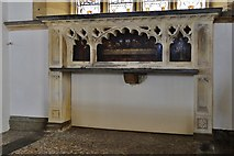 SY5697 : Toller Porcorum, Ss. Andrew and Peter Church: Stone reredos by Michael Garlick