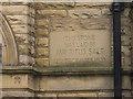 SE1337 : Almshouses, Victoria Road, Saltaire - datestone by Stephen Craven