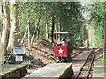 SE1338 : Shipley Glen Tramway:  the red tram departs by Stephen Craven