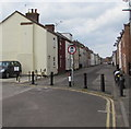 ST3037 : Metal posts across the southeast end of Union Street, Bridgwater by Jaggery