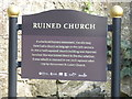 H9052 : Sign for ruined church, Loughgall, Co Armagh, Northern Ireland by P Webb