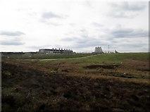SE8696 : RAF Fylingdales  from  the  bridleway by Martin Dawes