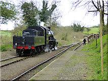 ST6442 : Locomotive running round train, Mendip Vale station by Robin Webster