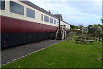 NZ9208 : Railway carriages at former Hawsker station by David Martin