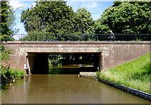 SK0120 : Wolseley Bridge east of Bishton, Staffordshire by Roger  Kidd