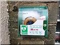 NO2507 : Defibrillator mounted on wall in Falkland by Bill Kasman