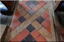 ST5906 : Melbury Bubb, St. Mary's Church: Floor tiles by Michael Garlick