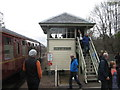NM8980 : Glenfinnan Signal Box by M J Richardson