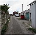 SS9079 : Back lane in Bridgend by Jaggery