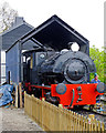 TM1265 : Bagnall in the Engine Shed, Mid Suffolk Light Railway by Roger Jones