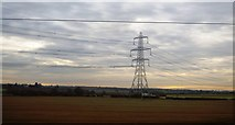 SK1409 : Pylon in a field by N Chadwick
