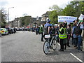 NT2674 : Marchers on Regent Terrace, Edinburgh by M J Richardson
