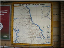 NZ4920 : North Eastern Railway tile map, Middlesbrough station by Richard Vince