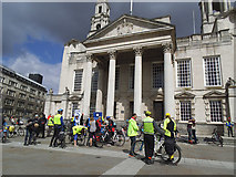 SE2934 : Space for Cycling gathering, Leeds 2017 by Stephen Craven