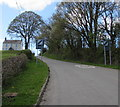 SN9347 : End of the 30 zone at the western edge of Llangammarch Wells  by Jaggery