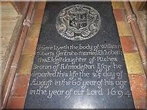 TG2834 : St Botolph, Trunch: ledger slab (4) by Basher Eyre