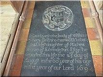 TG2834 : St Botolph, Trunch: ledger slab (7) by Basher Eyre