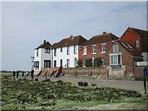SU8003 : Houses at Bosham Harbour, low tide by Jonathan Thacker