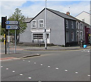 SS9079 : This way to the town centre and car parks, Bridgend by Jaggery