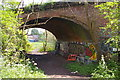 TQ2391 : Bridge over disused railway line, Mill Hill by Christopher Hilton