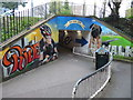 SX9192 : Colourful subway in Exeter by Chris Allen