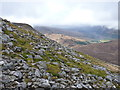 NH0848 : Frost-shattered rocks & scree high on Sgùrr nan Ceannaichean by Richard Law