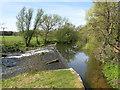NT5173 : Weir on the River Tyne at Haddington by M J Richardson