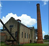 SK4964 : Pleasley Colliery engine house by Bobby Clegg