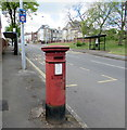 ST1268 : Victorian pillarbox, Holton Road, Barry by Jaggery