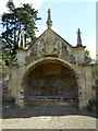 ST7093 : Canopied seat and memorial, Tortworth by Philip Halling