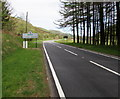 SN8443 : A483 in northern Carmarthenshire approaches Powys by Jaggery