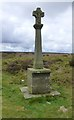 NZ8003 : Stone Cross on Moss Brow by Russel Wills