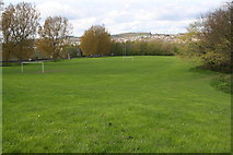 SE2436 : Football pitch at Bramley Fall Park by Roger Templeman